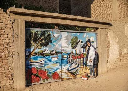 ريهام علي تستغل فترة الحظر في تعليم الأطفال فن الجرافيتي