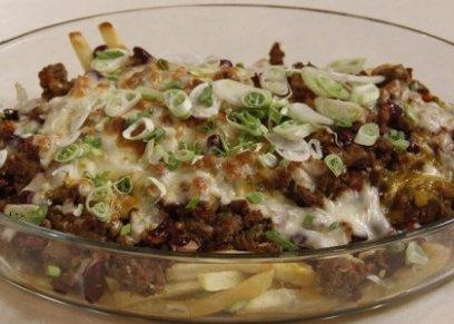 بطاطس باللحم المفروم والجبن