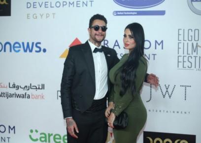 أحمد الفيشاوى في ظهور جديد مع زوجته