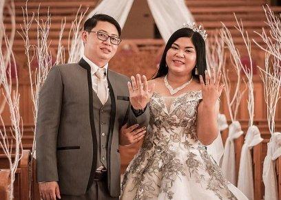 بالصور| يافرحة ماتمت.. عروس فلبينية تقضي ليلة زفافها بقسم الشرطة والسبب