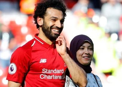 محمد صلاح وزوجته ماجي