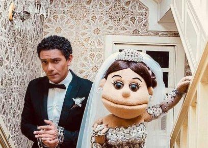 بالصور| زفاف آسر ياسين وأبلة فاهيتا بعدسة خالد فضة