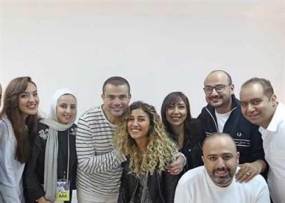 عمرو دياب ودينا الشربيني