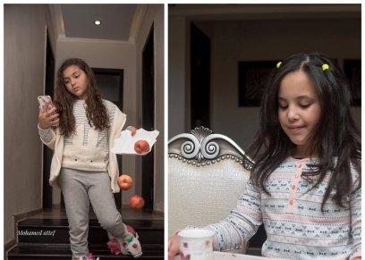 جلسة تصوير  توضح ضرر استخدام الموبايل على الأطفال