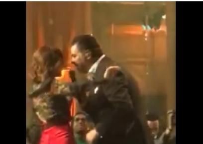 منة فضالي تشارك راغب علامة بوصلة رقص