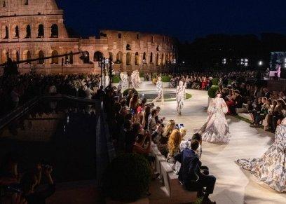 دار أزياء تقيم حفل أسطوري في روما