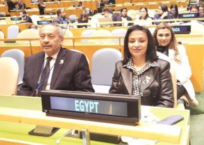 مايا مرسي في جلسة الأمم المتحدة