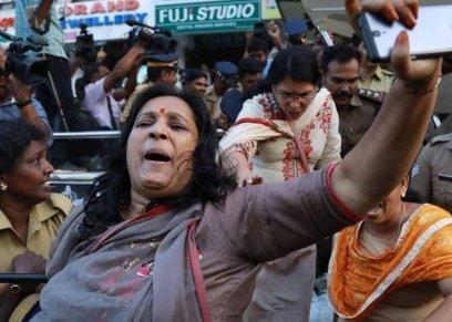 ملايين السيدات يتظاهرن ضد التمييز ضدهن في الهند
