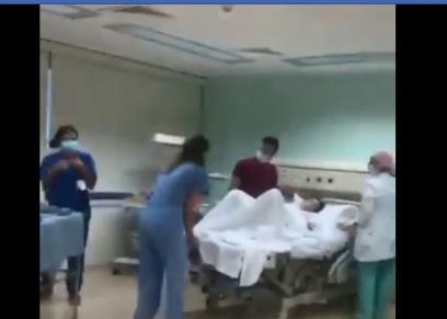 لحظة وضع أم لمولودتها خلال إنفجار بيروت