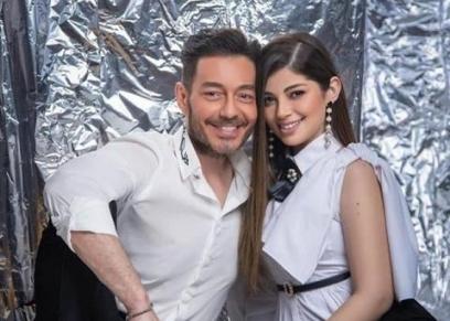 ليلى أحمد زاهر ووالدها