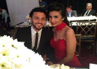 حسام غالي وزوجته لميس أبو الفتوح
