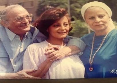 عبدالمنعم مدبولي وزوجته وابنته