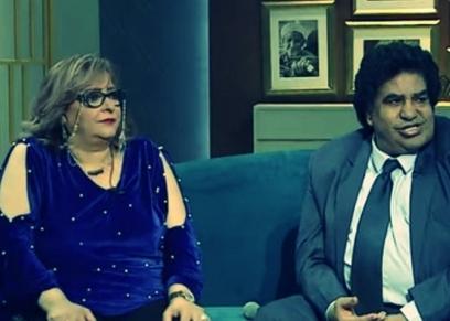 الفنان أحمد عدوية وزوجته