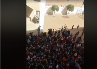 مظاهرات للطلاب من داخل مدرسة القدس