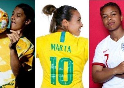 نجمات كأس العالم لكرة قدم النسائية