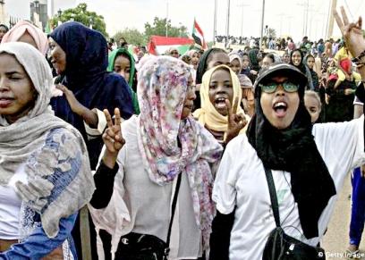 احتجاجات فى الخرطوم بسبب العنف ضد النساء