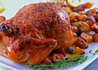 الدجاج واللحوم المحمرة