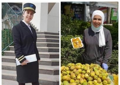 هبة طالبة في اكادمية الطيران