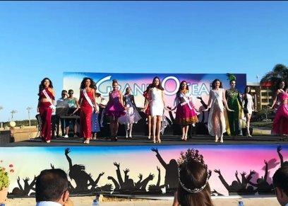 ملكة جمال لبنان تقدم وصلة رقص على