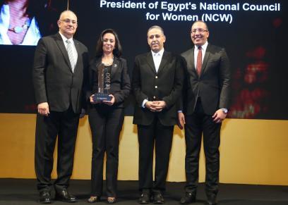 مايا مرسي تكرم عدد من الوزراء والشخصيات العامة