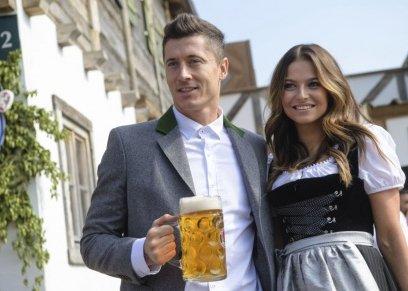 الألماني روبرت ليفاندوفسكي وزوجته