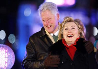 هيلاري كلينتون وزوجها بيل