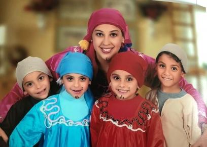 نيفين وأطفالها الأربعة
