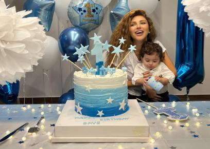 ميريام فارس تحتفل بعيد ميلاد نجلها