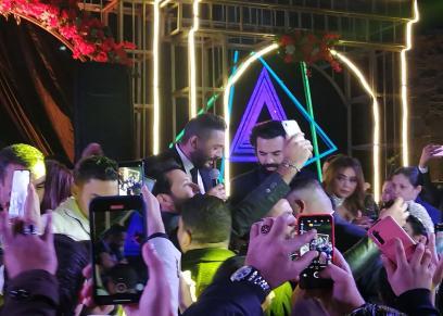 تامر حسني يحيى حفل زفاف رنا سماحة