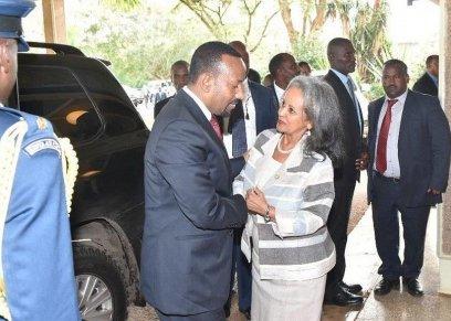 رئيسة إثيوبيا الجديدة سهل ورق زودي في لقاء سابقمع رئيس الوزراء الإثيوبي أبي أحمد- صورة أرشيفية
