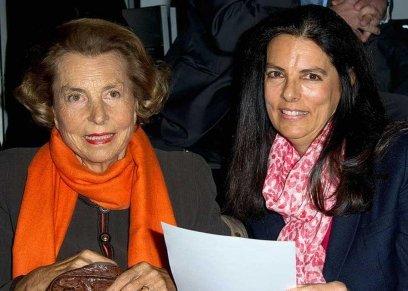 ليليان بيتنكور وابنتها فرانسوا. أرشيف