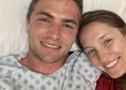 زوجه تنقذ زوجها من السقوط في البركان