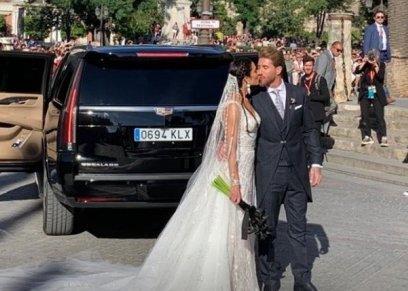 راموس يستقبل عروسته بـ