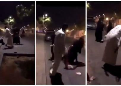 رجل يعتدي على بنت في فيديو متداول