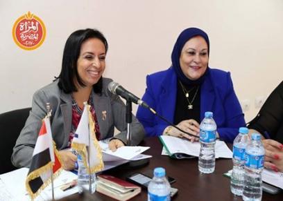 الدكتورة مايا مرسي خلال الاجتماع