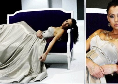فستان الذهب والماس