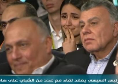 الشابة الكردية بعد رد الرئيس السيسي على سؤالها