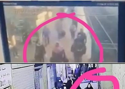 صورة تظهر سيدة قبيل اندلاع حريق محطة مصر