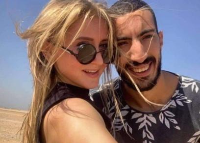 اليوتيوبر مصطفى شعبان وزوجته الروسية