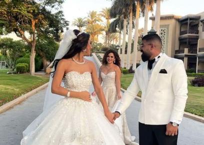 اخت رنا رئيس تحتفل بزفافها