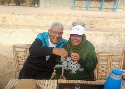 الزوجان محمد وابتسام