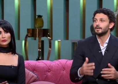 حسام غالي وزوجته