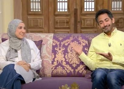 ياسر غلاب وزوجته إيمان مصطفى