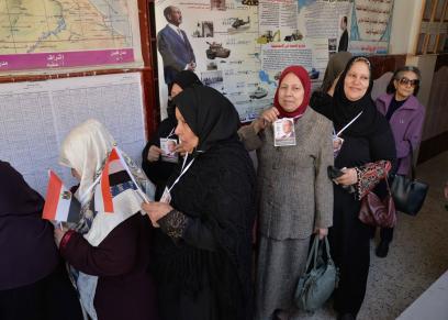 إقبال السيدات علي الإنتخابات في الدقهلية