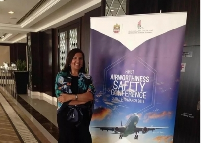 المهندسة نادية الكنزالي أول مهندسة صيانة طائرات في تونس