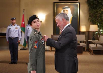 ملك الأردن وابنته الأميرة سلمى