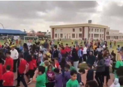 بالفيديو   رقص طلاب