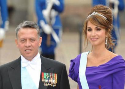 العاهل الأردني وزوجته الملكة رانيا