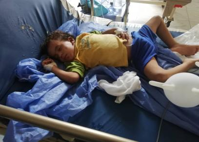 الطفلة ريهام ترقد في المستشفي