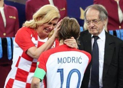 مودريتش ورئيسة كرواتيا